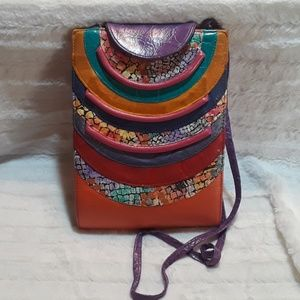 Vintage 80s leather crossbody New World collection